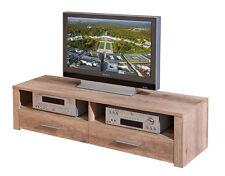 Meuble TV hifi meuble de rangement bas commode console décor chêne