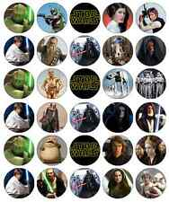 30 x Star Wars Cupcake Toppers Edible Wafer Paper Fairy Cake Toppers