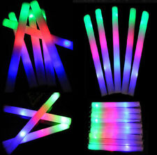 12 PACK Light Up LED Foam Glow Sticks Roller Tube Baton Wands Party Rally Rave