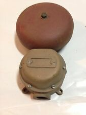 vintage industrial Brass Fire Alarm Switch   Nautical Steam Punk Boat Part