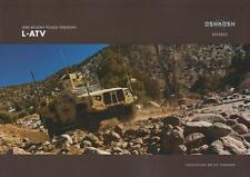 OSHKOSH L-ATV 2015 4x4 US ARMY MILITARY BROCHURE PROSPEKT FOLDER