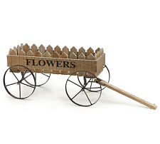 Flowers ~ Wooden Planter Wagon