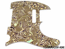 *NEW Bronze Abalone Telecaster PICKGUARD for Fender USA Standard Tele 8 Hole