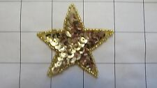 "2.25"" Gold Sequins Star Applique (J-73)"