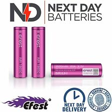 3 x GENUINE EFEST 3500 MAH 20A BATTERY LI-MN PURPLE 18650 IMR HIGH DRAIN VAPE