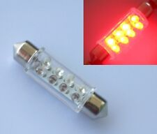 Red Car Interior 42mm 41mm Dome 8 SMD LED Bulb Lamp Light 12V DC