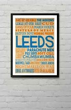 Leeds Indie Alternative Goth Bands Typography Wall Art Poster