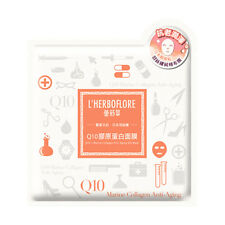 [L'HERBOFLORE] Q10 and Marine Collagen Anti-Aging Silk Facial Mask 3pcs NEW