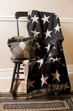 Black Star Cotton Woven Throw Black & Cream Star Woven Cotton Afghan Throw VHC