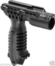 "Tactical Foregrip With Integrated Adjustable Bipod and 1"" Flashlight Adapter"
