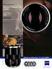 Prospekt Datenblatt Zeiss Kamera Objektiv Makro Planar T 2/100 2010 brochure len