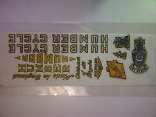 1 Sheet HUMBER CYCLE Transfer Decal Sticker For Vintage Bike Free Shipping