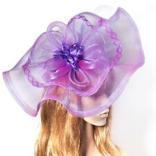 Large Handmade Lady Hat Flower Hair Clip Wedding Fascinator Headpieces Accessory