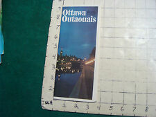 Vintage CLEAN MAP: OTTAWA outaouais map, 1973