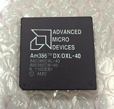AMD Am386 DX / DXL-40 Vintage 40 MHz Gold Ceramic CPU, A80386DXL-40, A80386DX-40