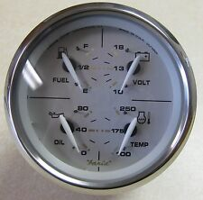 Faria Portsmouth w/ SS Bezel 4-in-1 Fuel, Volt, Temp, Oil Pressure Gauge GFC601A