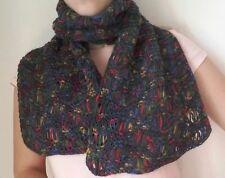 sciarpa invernale fatta a mano ai ferri multicolore