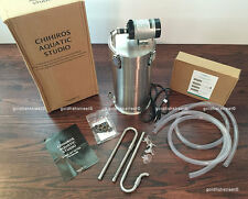CHIHIROS STAINLESS STEEL CANISTER AQUARIUM FILTER ES-600 w/PIPE - SHIP FROM USA