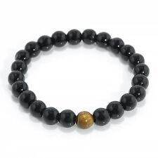Top Natural White Howlite Stone Gold Silver Buddha Men's Beaded Lucky Bracelet