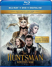 The Huntsman Winters War (Blu-ray/DVD, 2016, 2-Disc) Charlize Theron, Brand New