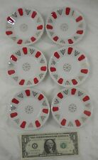6 - Pasabahce Magazalari Dipping Bowls Condiment Turkish Porcelain Plates