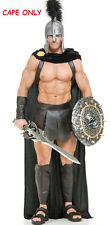 SPARTAN WARRIOR 300 ROMAN GREEK GLADIATOR THOR SUPERHERO COSTUME BLACK CAPE