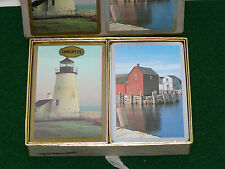 Vintage Light house Congress Double Deck  Playing Cards One deck factory sealed