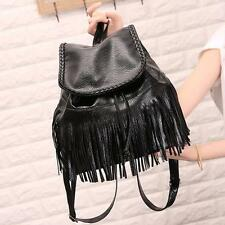 Tassel Backpack Travel Leather Handbag Rucksack Shoulder School Women Bag