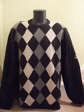 GLENBRAE LINED CREWNECK JUMPER/SWEATER Size XL  CHARCOAL/SLATE/OATMEAL   NEW