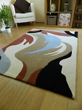 NEW SMALL MEDIUM LARGE MODERN 1-2 CM THICK MULTI COLOUR ACRYLIC CARPET RUGS