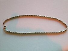Ladies white metal/silver  necklace 18""