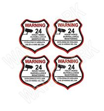 4 VIDEO SURVEILLANCE Security Burglar Alarm Decal  Warning Sticker Signs