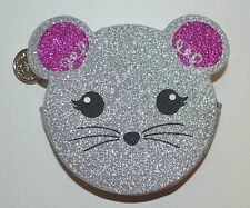 BATH BODY WORKS MOUSE GLITTER BAG HEADPHONE EARBUD LIP GLOSS HOLDER CASE CARRIER