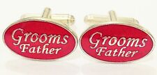 NOVELTY GROOMS FATHER RED WEDDING GIFT MENS DRESS CUFF LINKS CUFFLINKS (#1069)