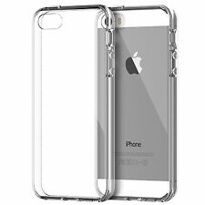 For iPhone SE Case Transparent Cover Slim Fit Gel Free Screen Protector