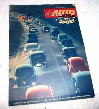 GERMANY GERMAN AUTOMOBILE MOTORCYCLE MAGAZINE DAS AUTO MOTOR UND SPORT 1951