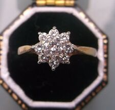 Women's 9ct Gold Quality Ring CZ Stones Ring Size M Hallmarked Weight 1.4g