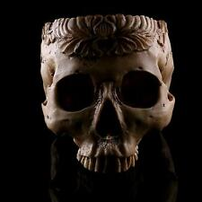 Skull Head Design Flower Pot Trough Box Planter Container Replica Skeleton