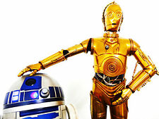 SIDESHOW STAR WARS C-3PO AND R2-D2 PREMIUM FORMAT FIGURE STATUE BUST SET RARE