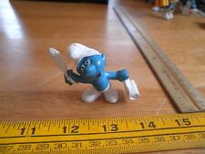 Smurf figure Quill and Scroll paper 1972 VINTAGE Schleich Peyo