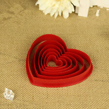 1 Set Heart Cookie Biscuit Fondant Cake Cutter Decorating Tool Mold Sugar Craft