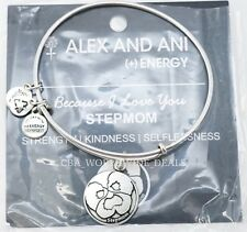 NEW Alex and Ani Because I Love You Stepmom Rafaelian Silver Bangle Bracelet