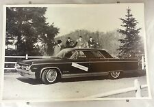 "12 By 18"" Black & White Picture 1964 Oldsmobile 98 4 door hardtop Fake Backdrop"