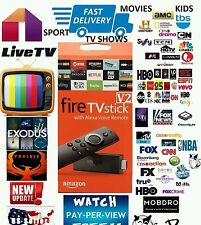 UNLOCKED AMAZON FIRE TV STICK JAILBROKEN, ALEXA VOICE REMOTE MOBDRO  MOVIES XxXX
