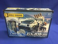 Hasbro G.I. Joe Wolf Hound vehicle w/ White Out figure w/firing missile launcher