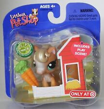 Littlest Pet Shop Target exclusive retired #405 brown pony with carrots