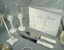 Cinderella Fairytale Carriage Wedding Accessory Set Guest Book Toasting Flutes