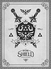 A4 Zelda Poster - The Hylain Shield Foundry (Gaming XBOX360 PS3 Wii Nintendo DS)