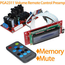 PGA2311 Audio Volume Stereo Pre-amplifier Preamp Board with Remote Control & LCD