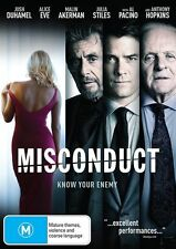 Josh Duhamel/Anthony Hopkins : Misconduct - Ex-Rental DVD (Exc. Cond.)